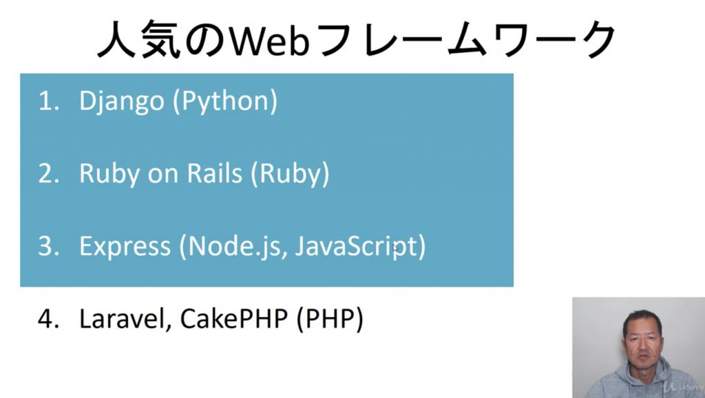 人気のWebフレームワーク