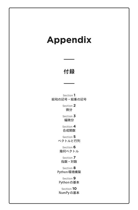 Appendix 機械学習を理解するための数学のきほん