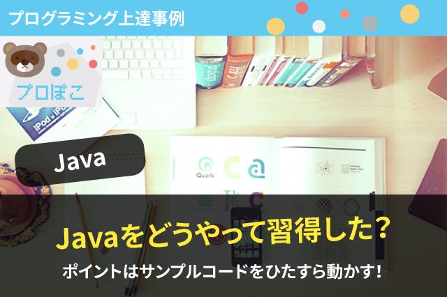 Javaプログラミング上達事例