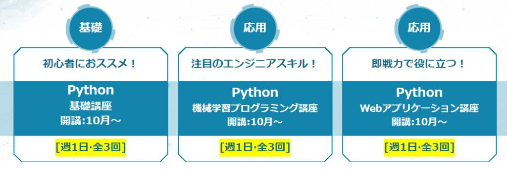 Pythonキャリアカレッジの講座